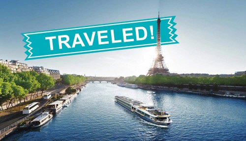 The Seine River cruise has been traveled!